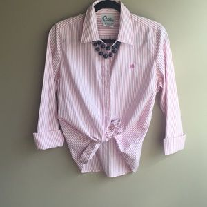 Lily Pulitzer pink button down shirt